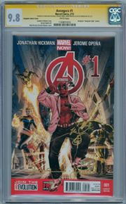Avengers #1 Deadpool Gangnam Retail Variant CGC 9.8 Signature Series Signed x4 Marvel Now comic book